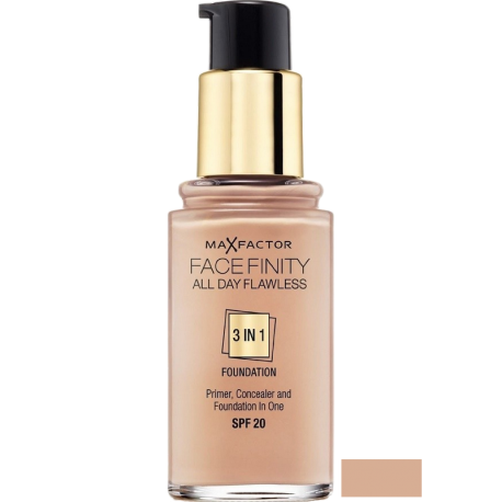 MAX FACTOR Face Finity All Day Flawless 3in1 Foundation Warm Almond 45