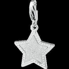 S'AGAPÕ Happy Charm Stella Glitterata Argento