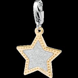 S'AGAPÕ Happy Charm Stella Glitterata Oro e Argento