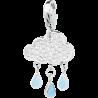 S'AGAPÕ Happy Charm in Acciaio Nuvola con Cristalli