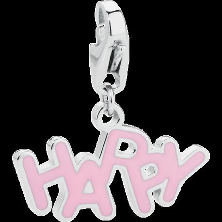 S'AGAPÕ Happy Charm in Acciaio Happy