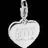 "S'AGAPÕ Happy Charm in Acciaio Incisione ""#Solo Cose Belle"""