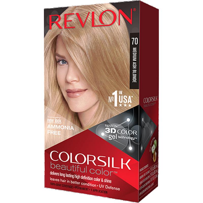 ... REVLON ColorSilk Beautiful Color Biondo Cenere Medio 70 ... 13c65c872b7c